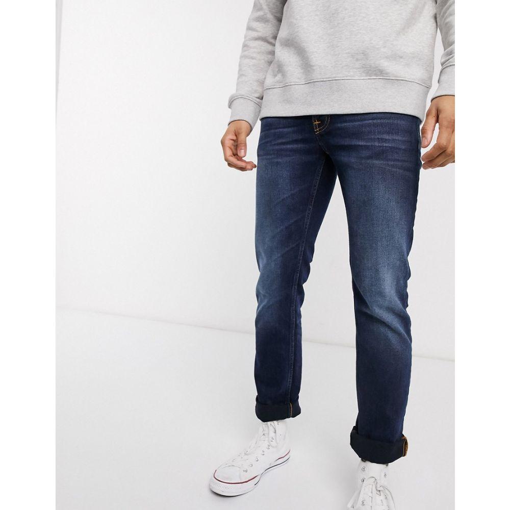 ヌーディージーンズ Nudie Jeans メンズ ジーンズ・デニム ボトムス・パンツ【Co Grim Tim slim straight fit jeans in ink navy】Blue