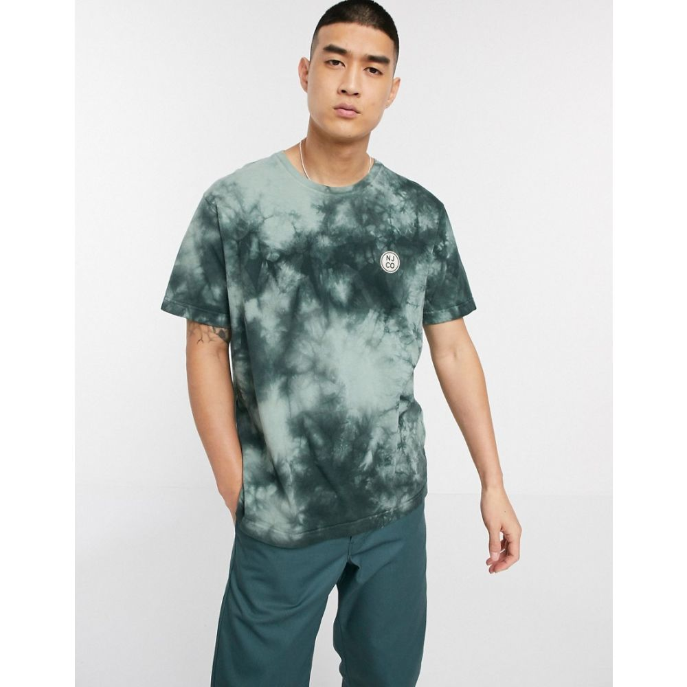 ヌーディージーンズ Nudie Jeans メンズ Tシャツ トップス【Co Uno circle logo tie dye t-shirt in pale green】Green
