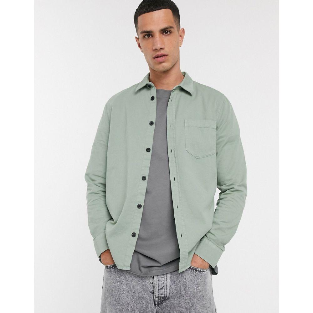 ヌーディージーンズ Nudie Jeans メンズ シャツ トップス【Co Henry one pocket shirt in pale green】Green
