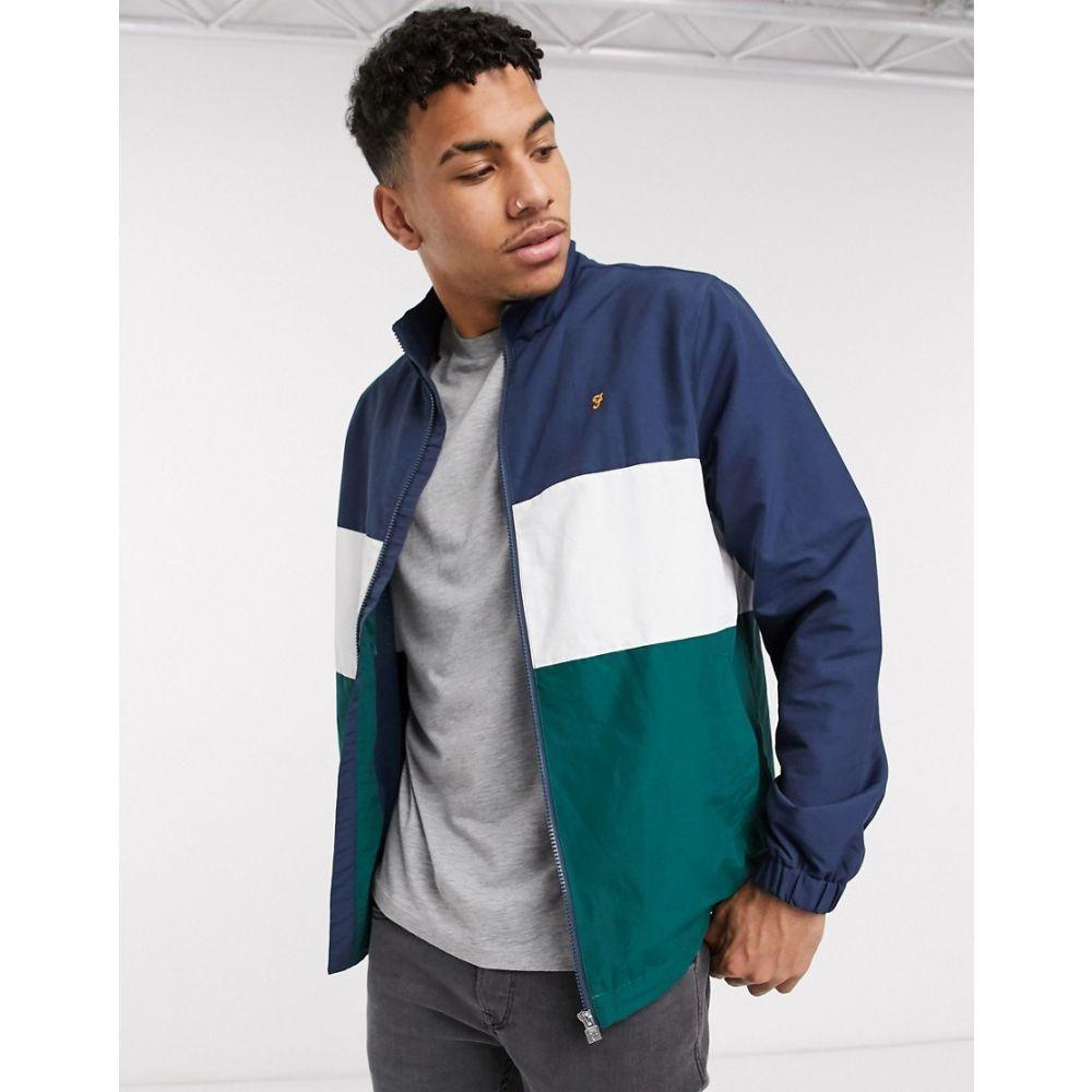 ファーラー Farah メンズ ジャケット アウター【Amir block panel jacket in navy/green】Navy