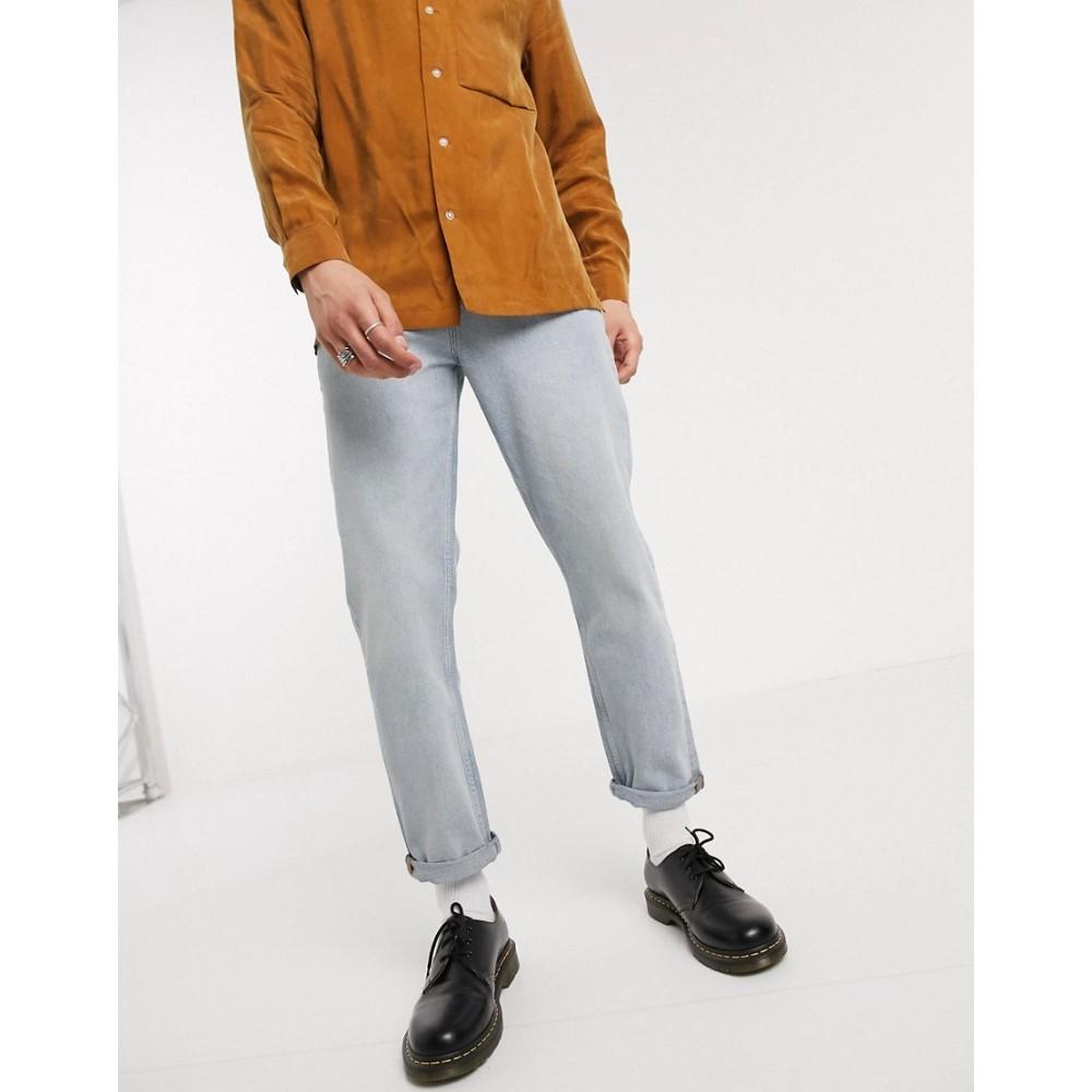 エイソス ASOS DESIGN メンズ ジーンズ・デニム ボトムス・パンツ【straight crop jeans in light wash blue】Light wash blue