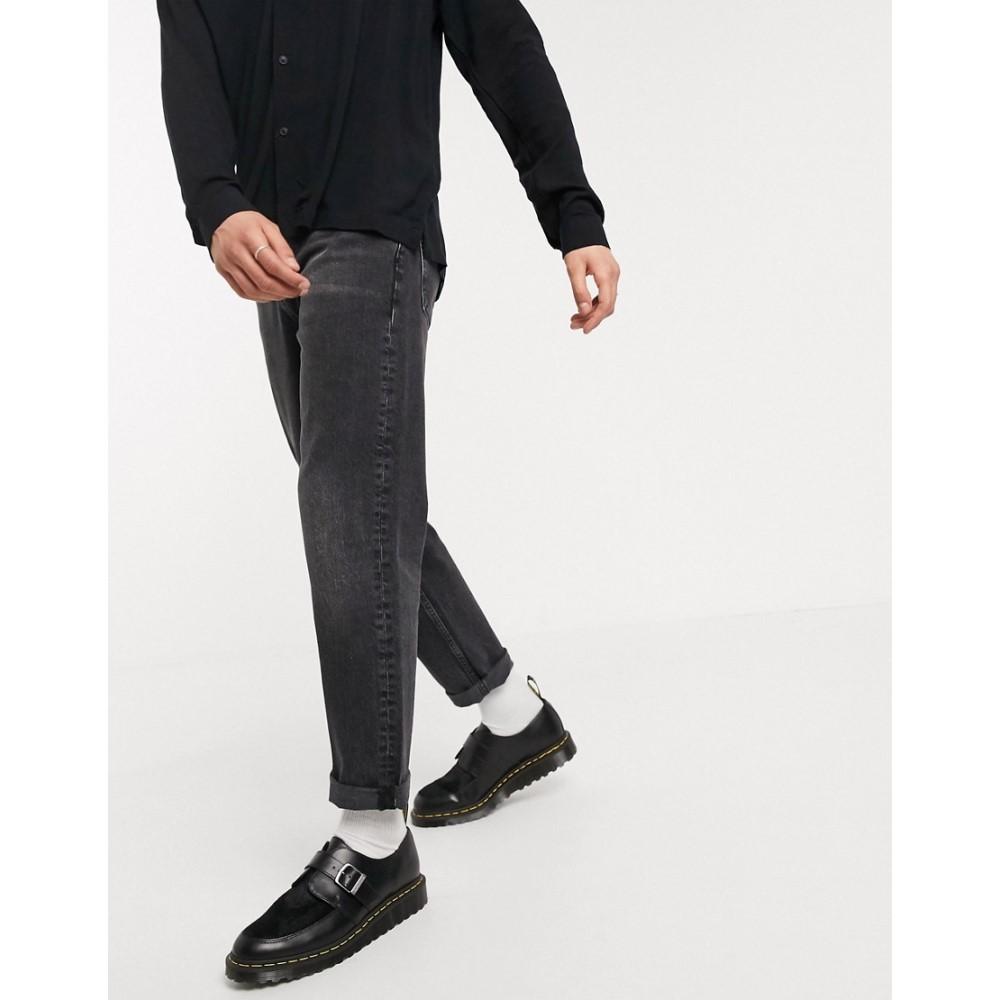エイソス ASOS DESIGN メンズ ジーンズ・デニム ボトムス・パンツ【straight crop jeans in washed black】Washed black