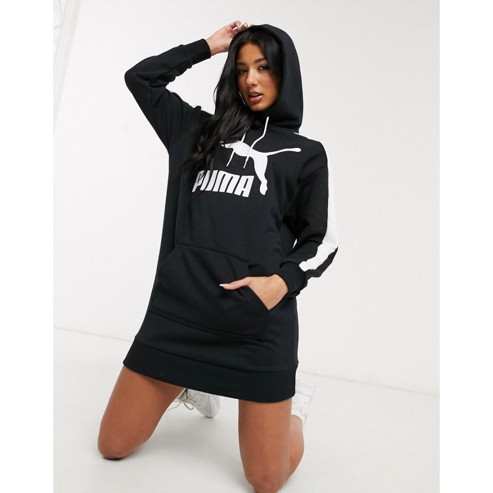 プーマ Puma レディース ワンピース ワンピース・ドレス【T7 Logo sweat dress in black】Black