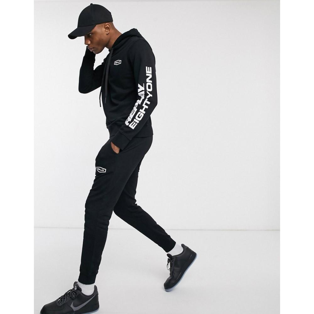 リプレイ Replay メンズ ジョガーパンツ ボトムス・パンツ【eightyone logo joggers in black】Black