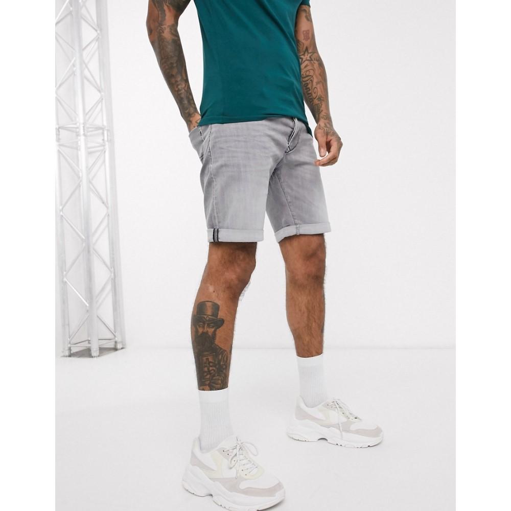 リプレイ Replay メンズ ショートパンツ デニム ボトムス・パンツ【regular fit denim shorts in grey】Grey