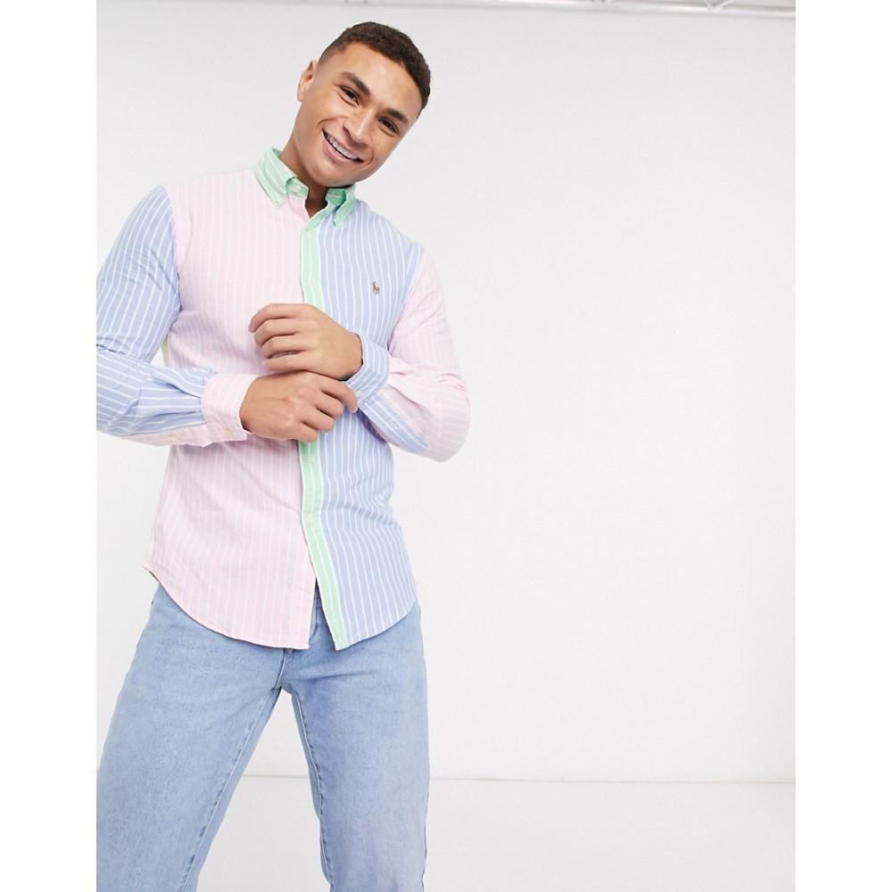 ラルフ ローレン Polo Ralph Lauren メンズ シャツ トップス【contrast stripe oxford shirt slim fit player logo in multi】