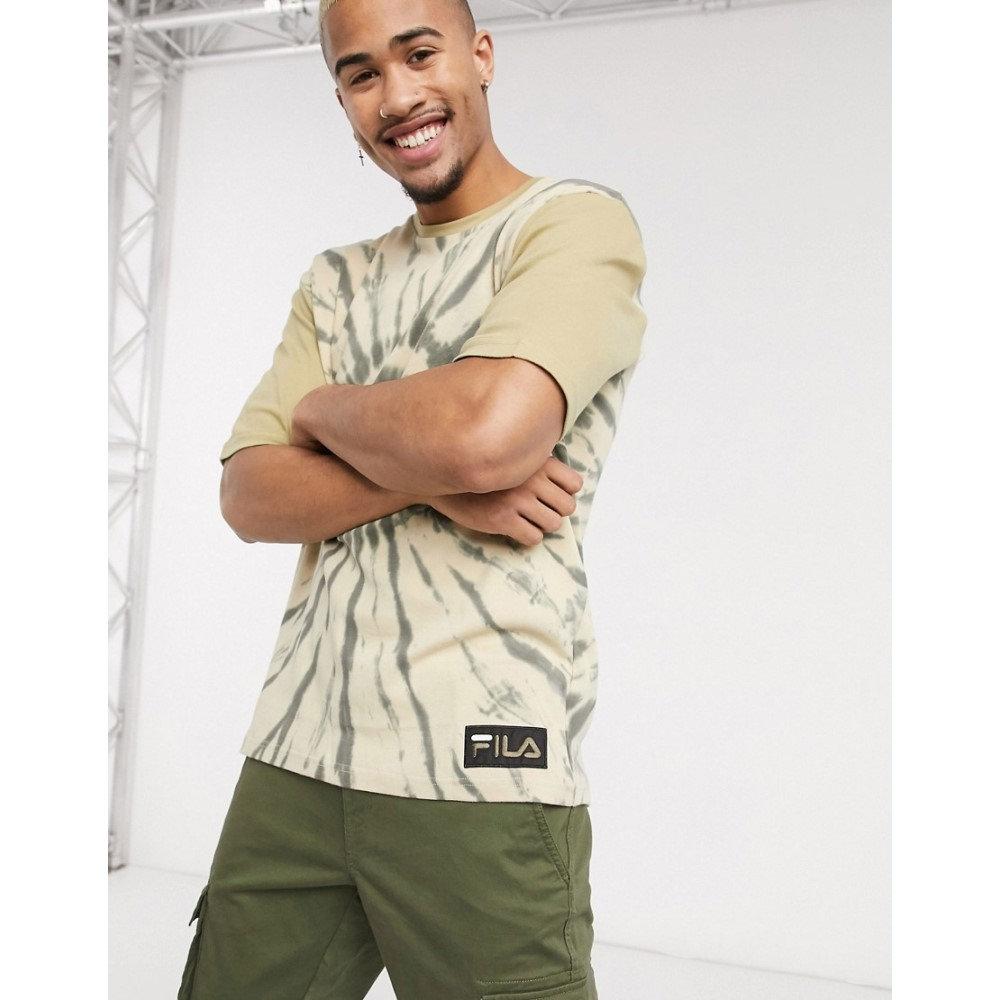 フィラ Fila メンズ Tシャツ ドロップショルダー トップス【Archer dropped shoulder tie dye t-shirt in olive grey】Olive grey