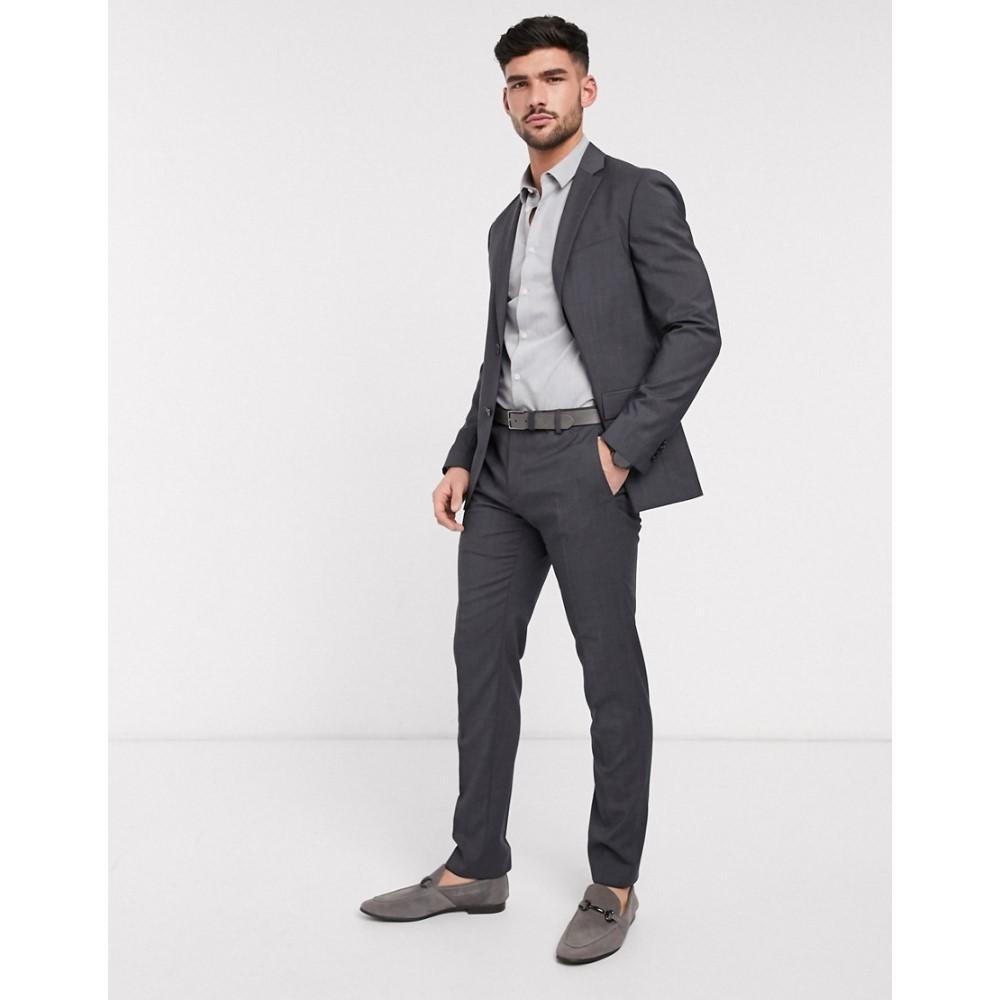 カルバンクライン Calvin Klein メンズ スラックス ボトムス・パンツ【modern textuerd suit trousers】Grey