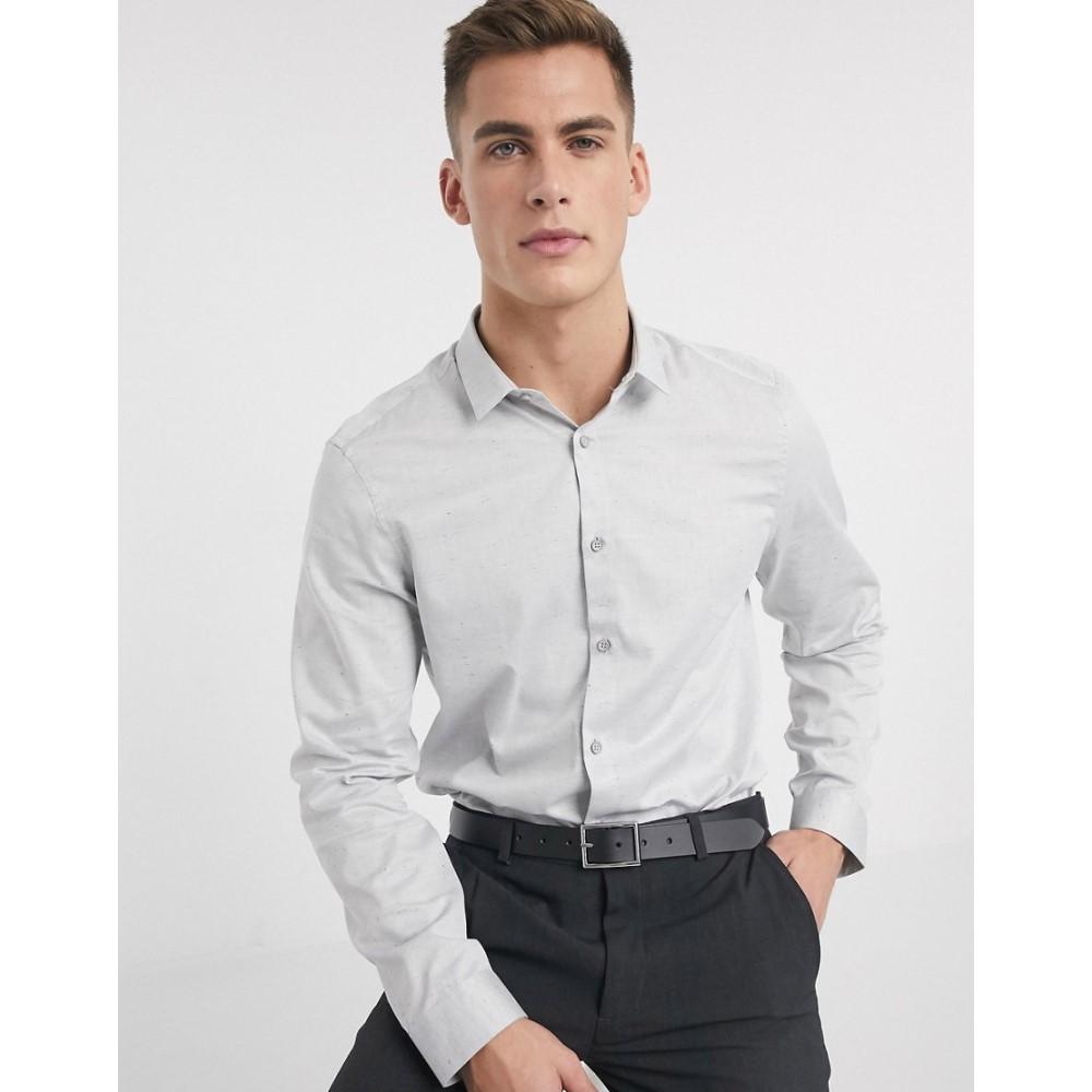 カルバンクライン Calvin Klein メンズ シャツ トップス【Walt neps heather shirt】Grey
