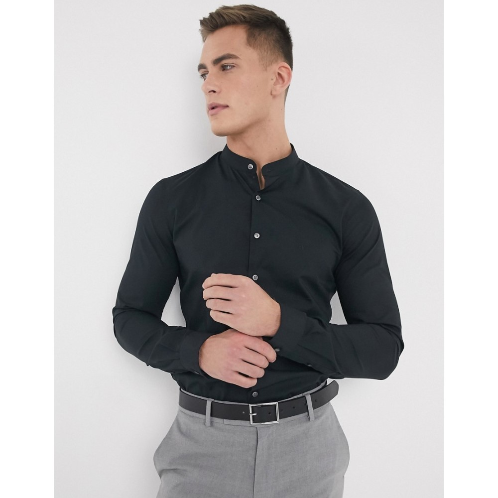 カルバンクライン Calvin Klein メンズ シャツ トップス【poplin stretch extra slim fit shirt】Black