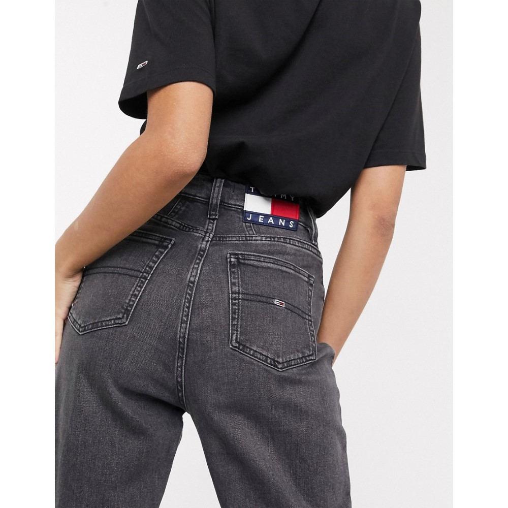 トミー ジーンズ Tommy Jeans レディース ジーンズ・デニム ボトムス・パンツ【tapered mom jeans in washed black】Aries bk com