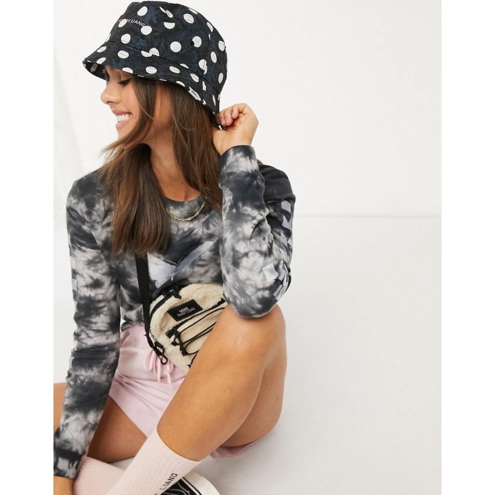 ヴァンズ Vans レディース ハット バケットハット 帽子【X Sandy Liang Spotted bucket hat in navy】Black/white