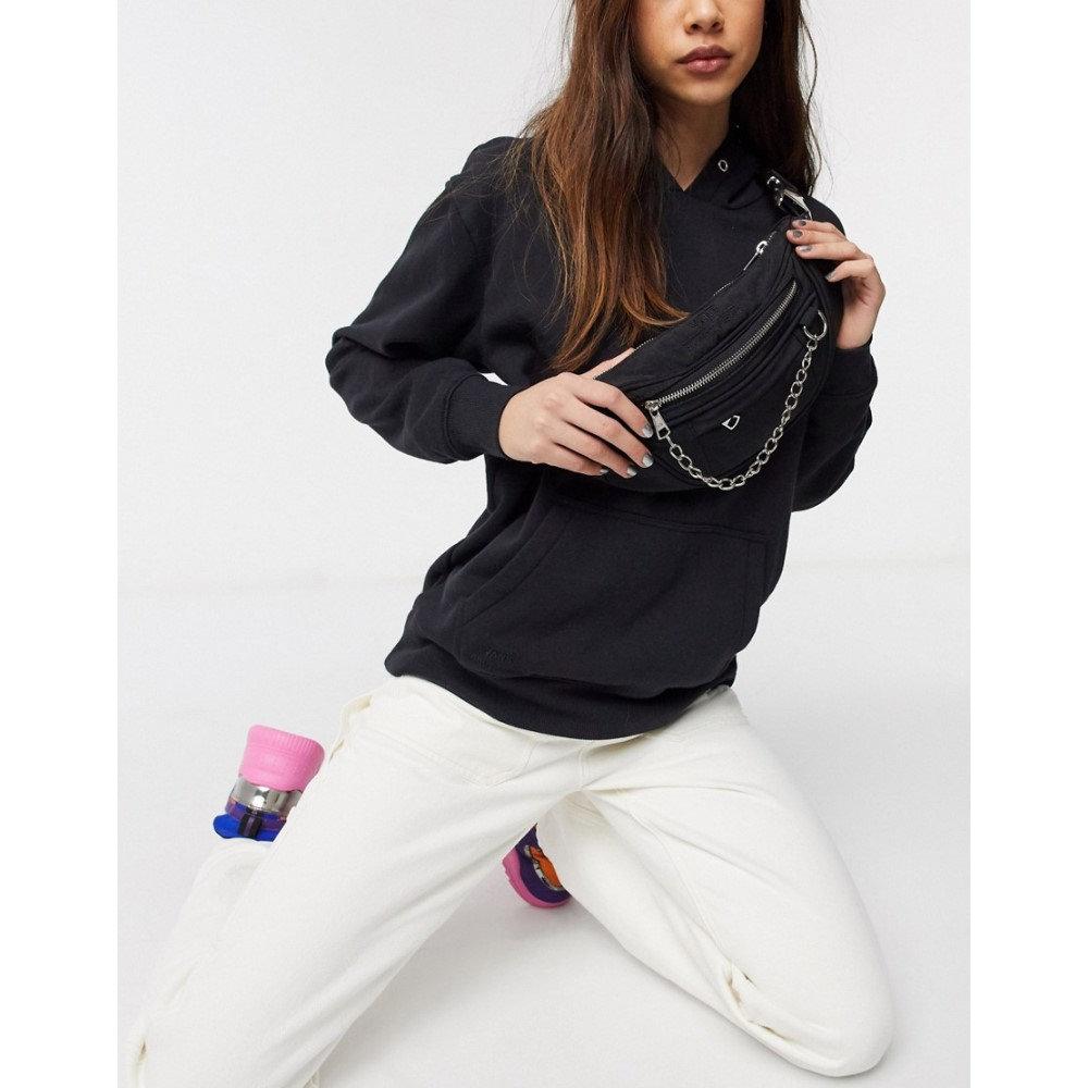 ヴァンズ Vans レディース ボディバッグ・ウエストポーチ バッグ【X Sandy Liang Chain bum bag in black】White/black