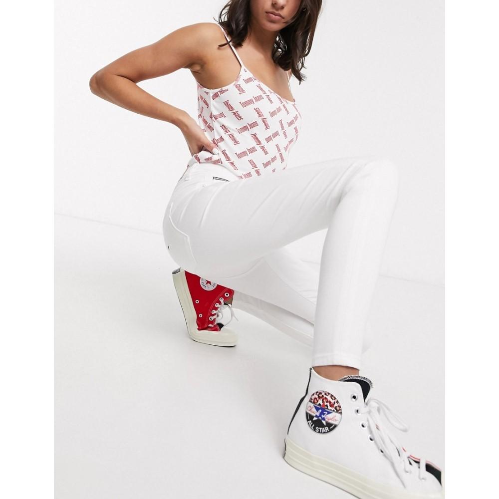 トミー ジーンズ Tommy Jeans レディース ジーンズ・デニム ボトムス・パンツ【sylvia super skinny jeans in white】Candle white