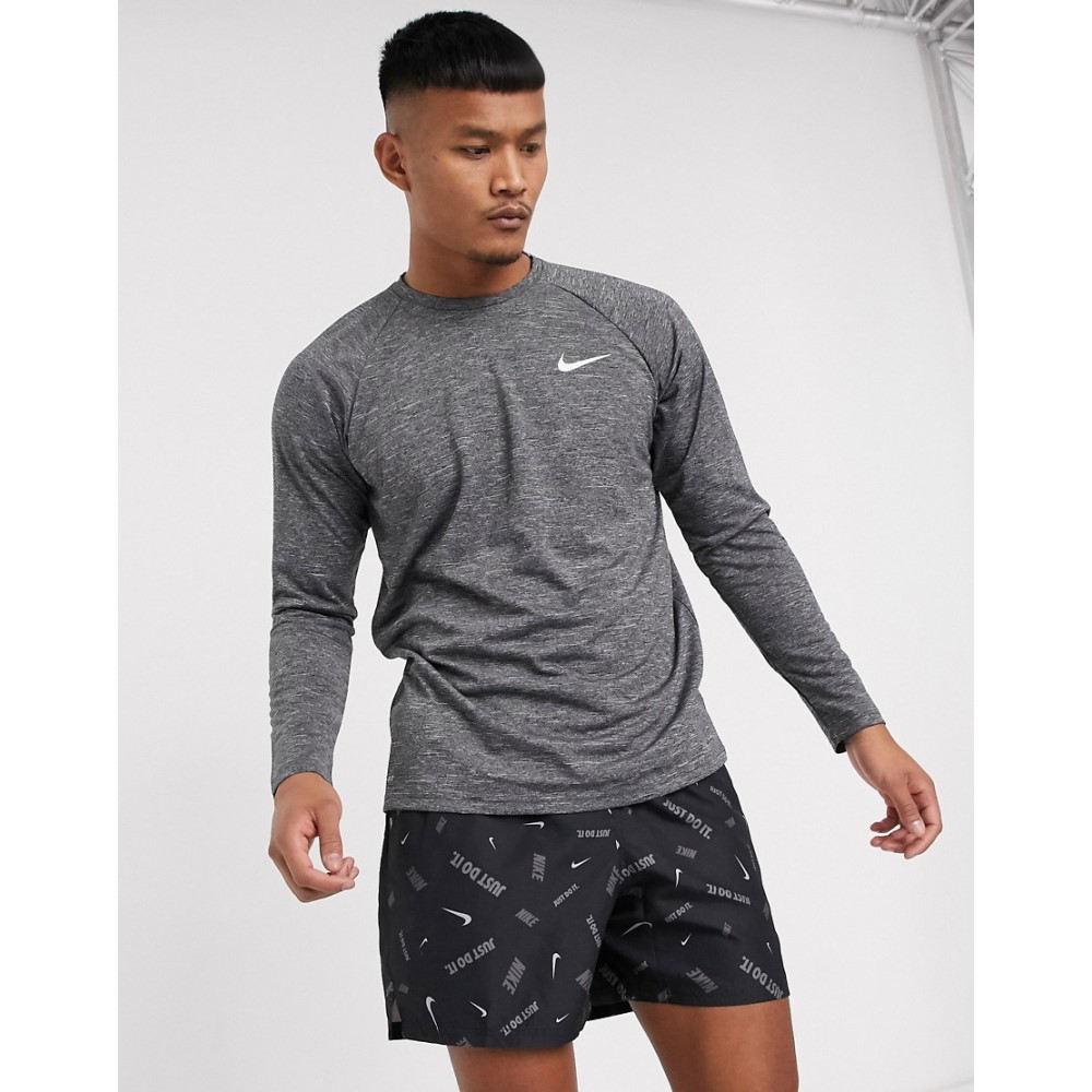 ナイキ Nike Swimming メンズ 長袖Tシャツ トップス【long sleeve hydroguard in black】Black
