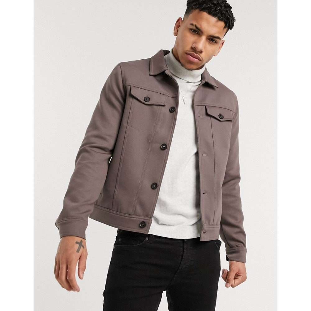 リバーアイランド River Island メンズ ジャケット アウター【western jacket in brown】Brown