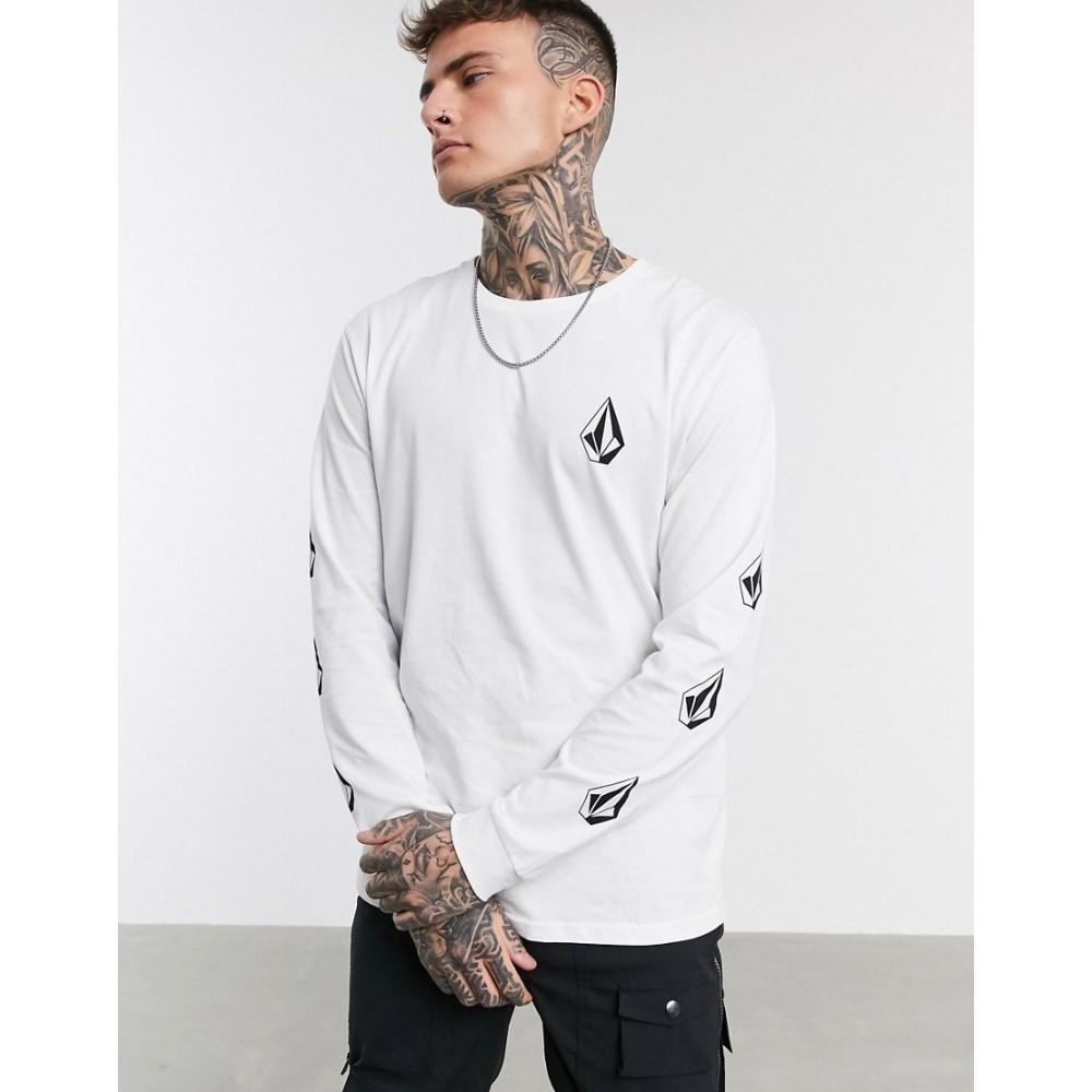 ボルコム Volcom メンズ 長袖Tシャツ トップス【Deadly Stones long sleeved t-shirt in white】White