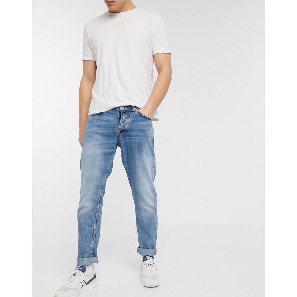 ヌーディージーンズ Nudie Jeans メンズ ジーンズ・デニム ボトムス・パンツ【Co Steady Eddie II regular tapered fit jeans in sunday blues】Blue