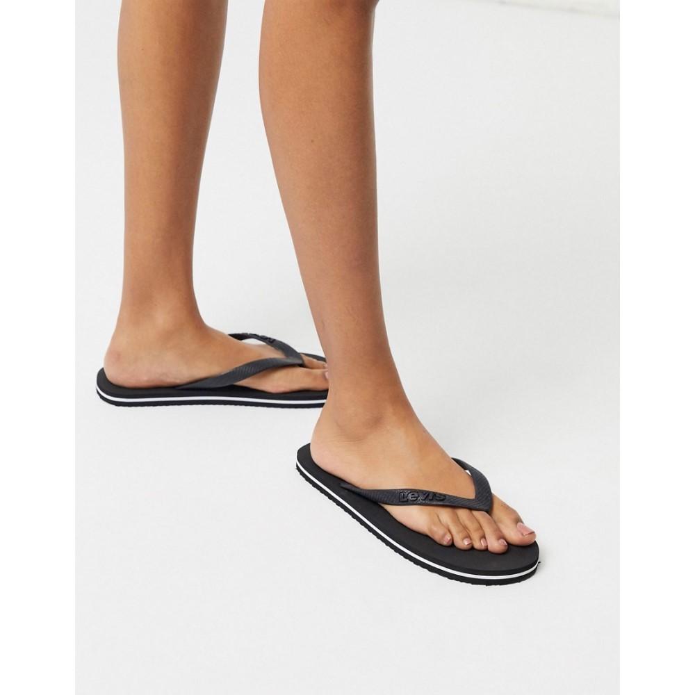 リーバイス Levi's レディース ビーチサンダル シューズ・靴【classic flip flop in black】Black