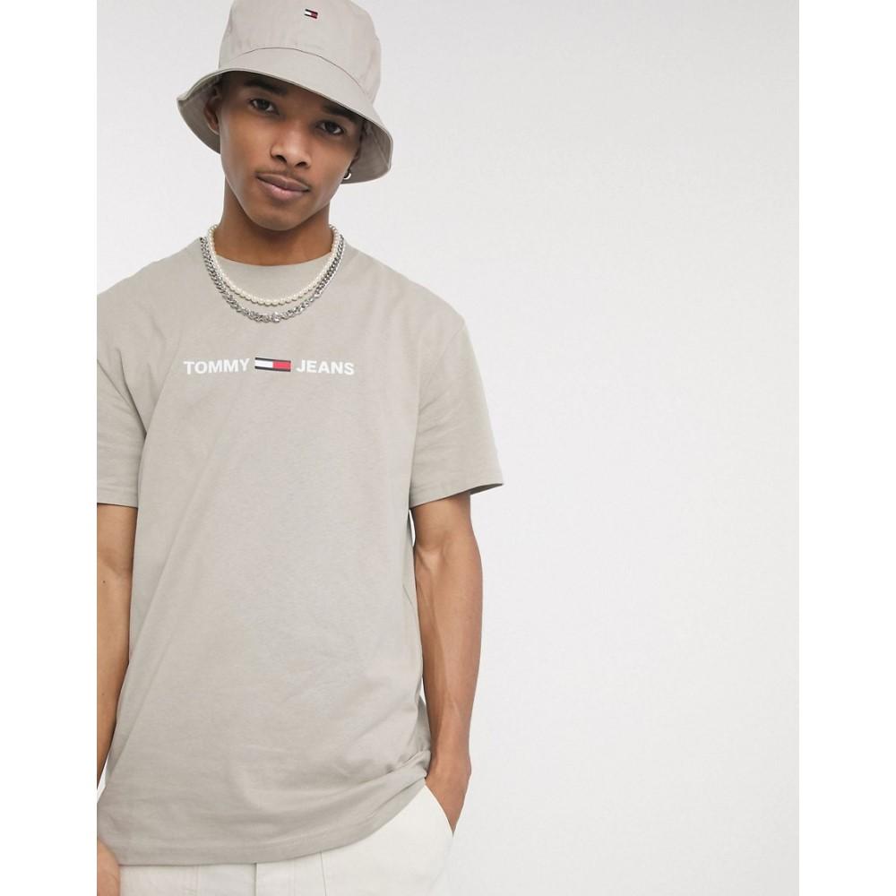 トミー ジーンズ Tommy Jeans メンズ Tシャツ トップス【chest small logo t-shirt in stone】Stone
