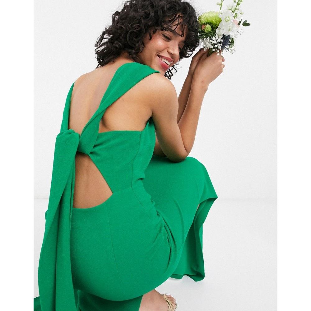ホイッスルズ Whistles レディース ワンピース マキシ丈 ワンピース・ドレス【bridesmaid tie back maxi dress in green】Green