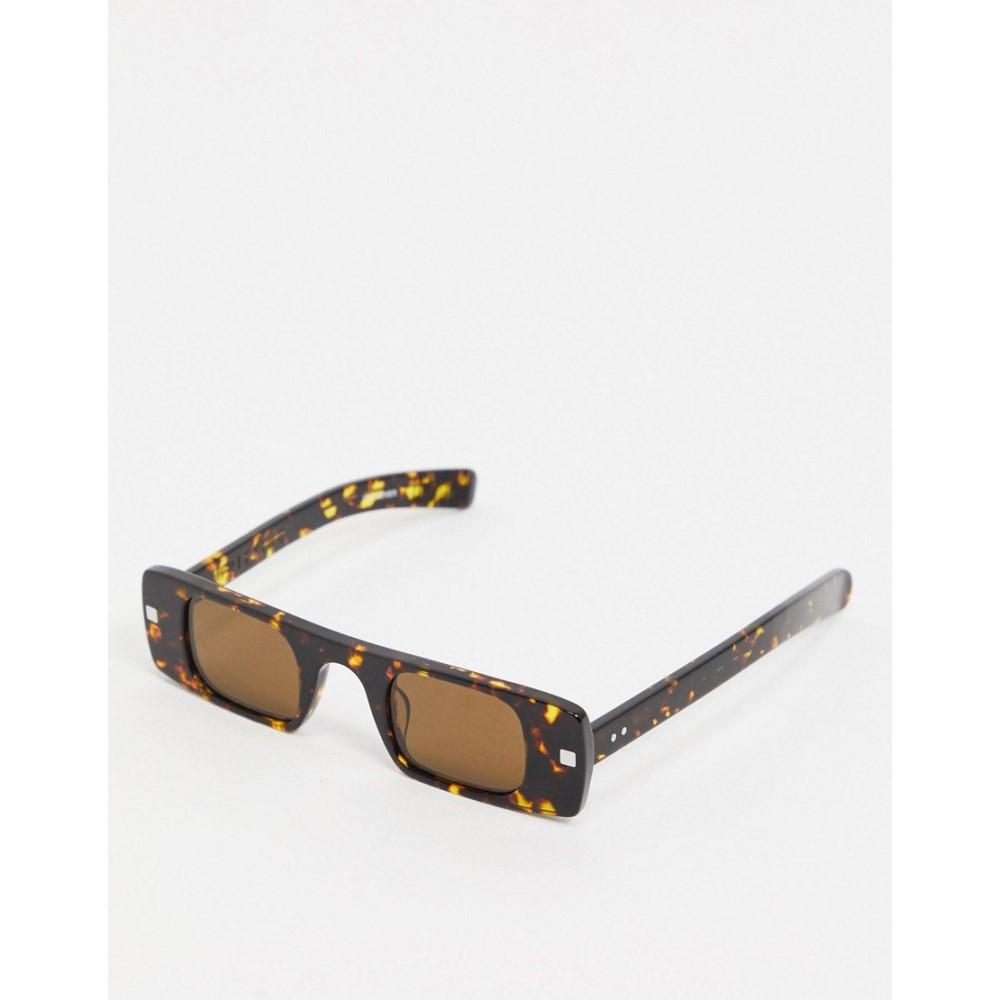 スピットファイア Spitfire レディース メガネ・サングラス スクエアフレーム【Cut Seven slim square sunglasses in tort】Tort