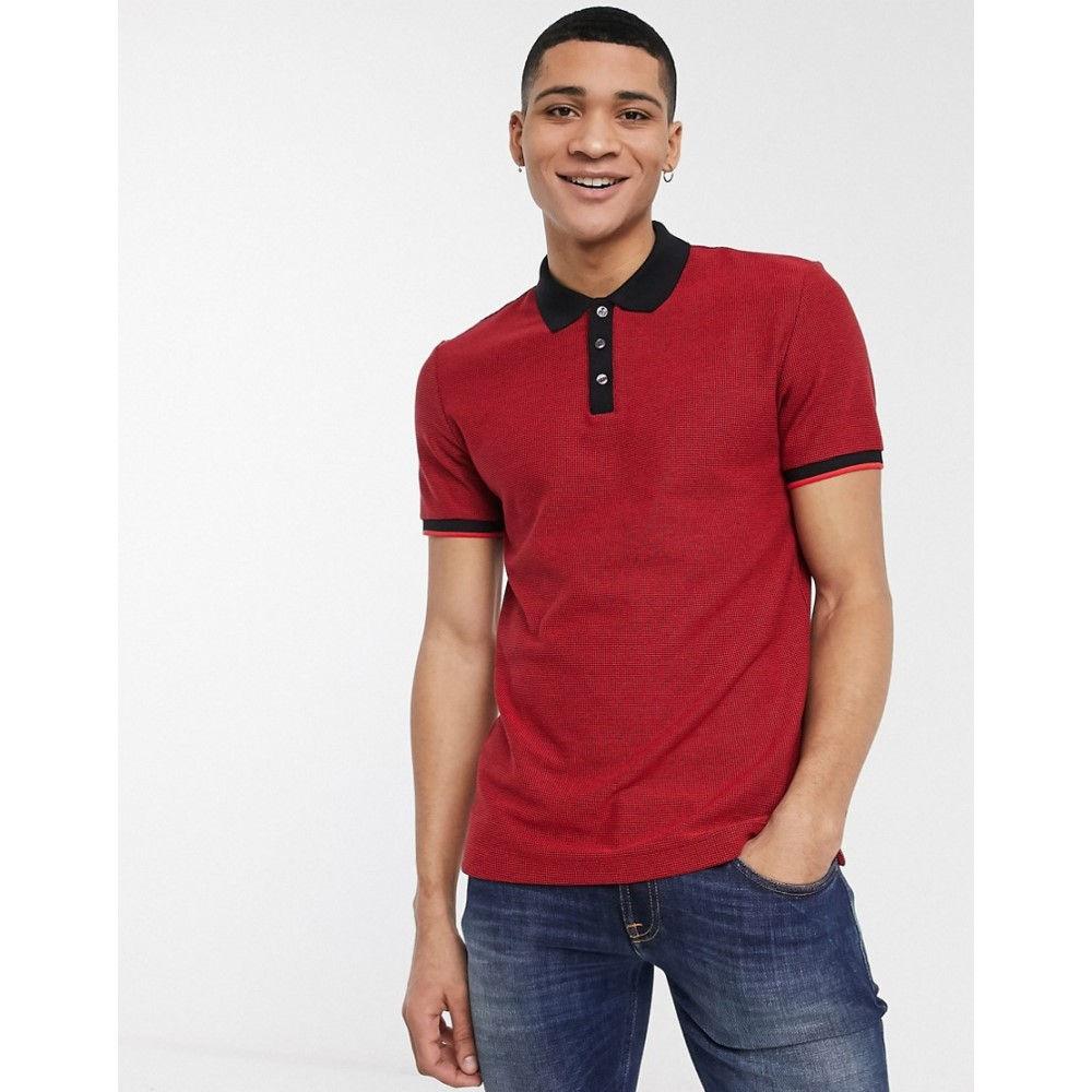 ヒューゴ ボス BOSS メンズ ポロシャツ トップス【Business Parlay tipped polo shirt】Red