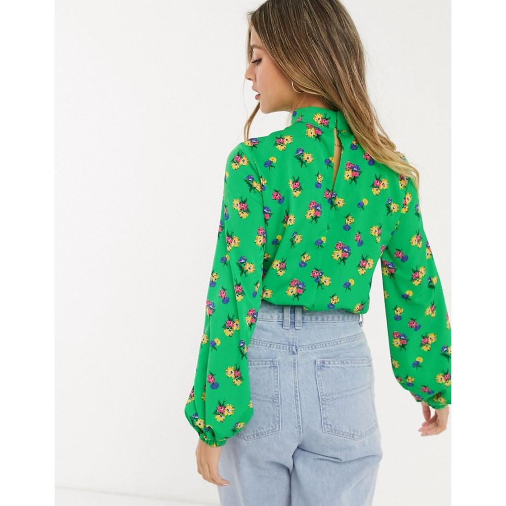 エイソス ASOS DESIGN レディース トップスelasticated waist top in floral print MultilwiTXZuPkO
