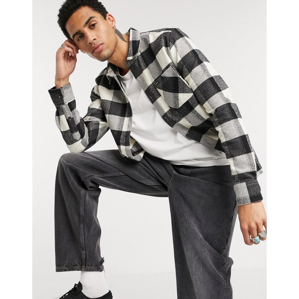 ボルコム Volcom メンズ シャツ トップス【Neo Glitch long sleeve check shirt in black & white】Blakc&white check