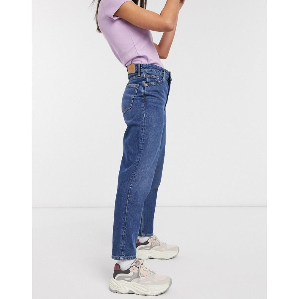 モンキー Monki レディース ジーンズ・デニム ボトムス・パンツ【Taiki organic cotton high waist mom jeans in la lune】Dusty blue
