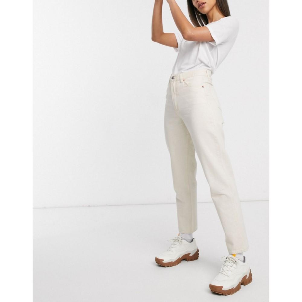 モンキー Monki レディース ジーンズ・デニム ボトムス・パンツ【Taiki high waist mom jeans with organic cotton in ecru】White