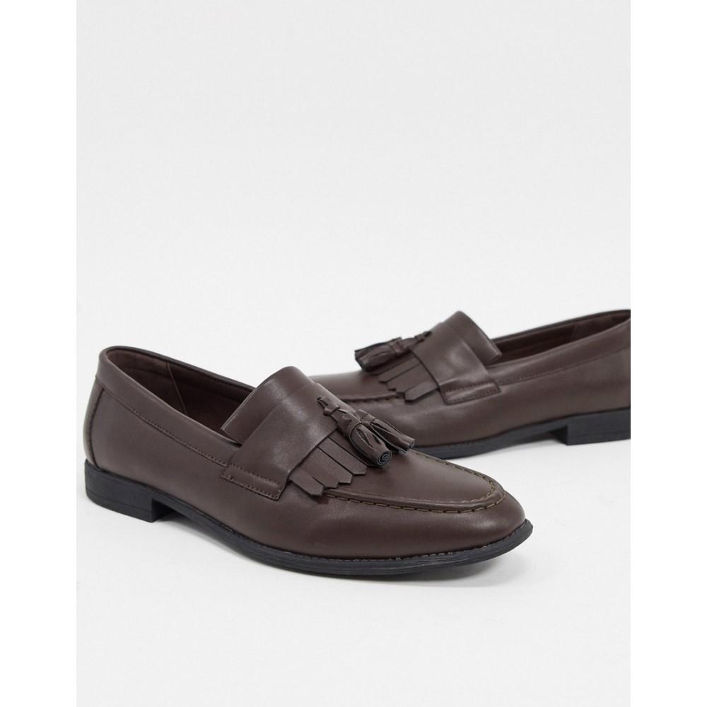 ニュールック New Look メンズ ローファー シューズ・靴【PU tassel loafer in brown】Dark brown