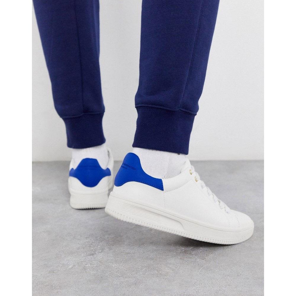 クリエイティブ レクリエーション Creative Recreation メンズ スニーカー チャンキーヒール シューズ・靴【chunky sole trainers in white and blue】White/blue