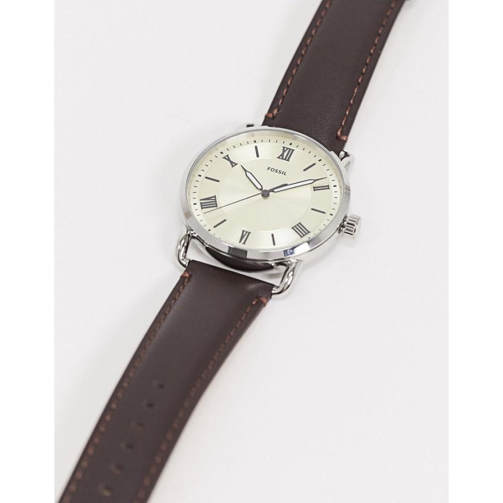 フォッシル Fossil メンズ 腕時計 【Copeland brown leather watch FS5663】Brown