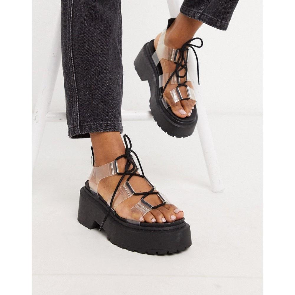 トップショップ Topshop レディース サンダル・ミュール チャンキーヒール シューズ・靴【chunky sandals in clear】Clear