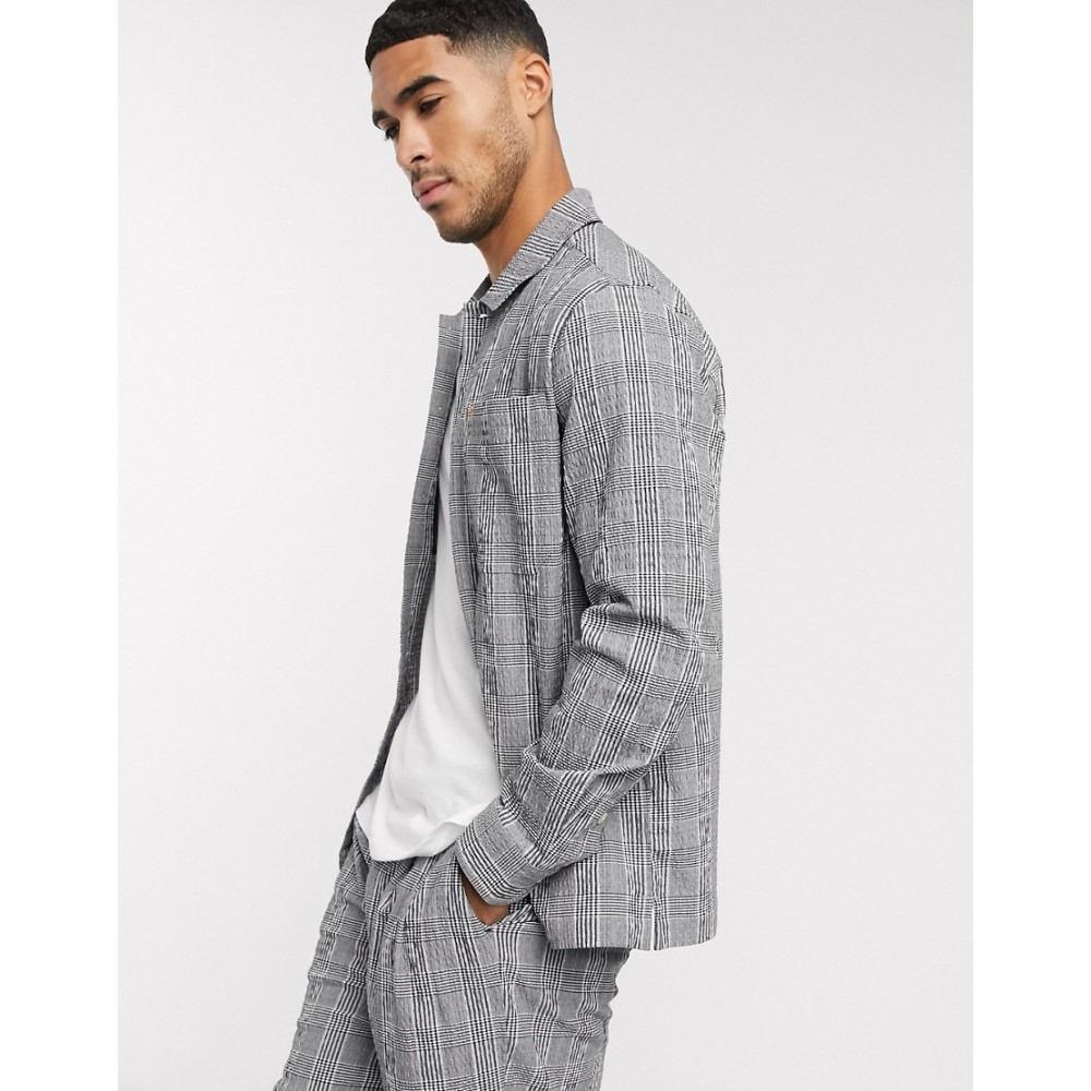 ファーラー Farah メンズ ジャケット アウター【Mcelennan check light jacket in grey】Grey