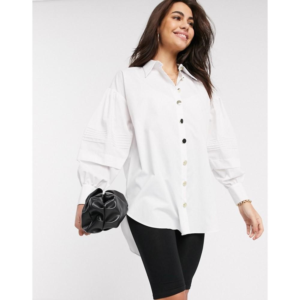 リバーアイランド River Island レディース ブラウス・シャツ トップス【shirt in white】White