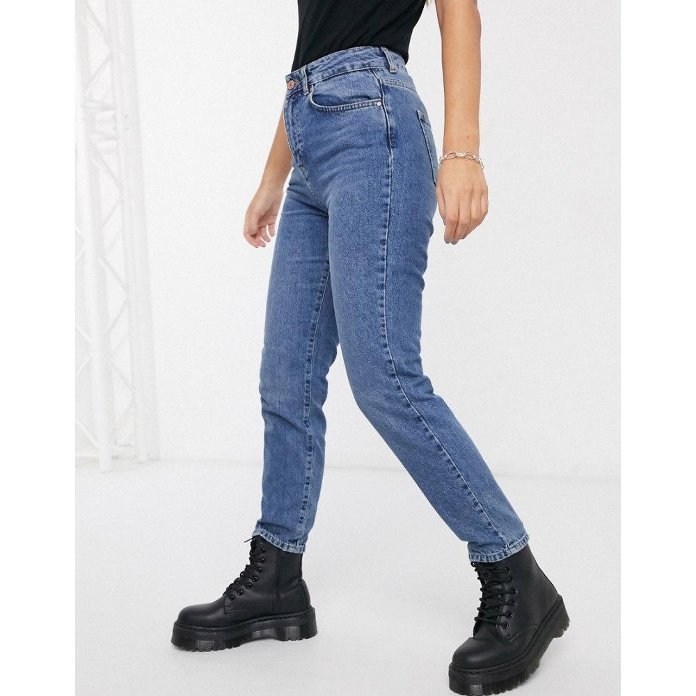 ノイズィーメイ Noisy May レディース ジーンズ・デニム ボトムス・パンツ【Premium mom jeans with high waist in mid blue】Blue