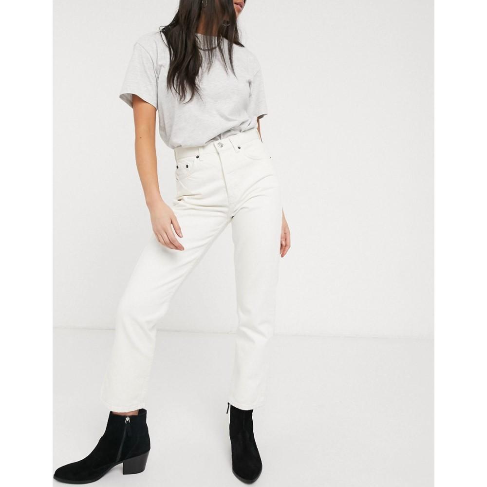 トップショップ Topshop レディース ジーンズ・デニム ボトムス・パンツ【Editor jeans in off white】White