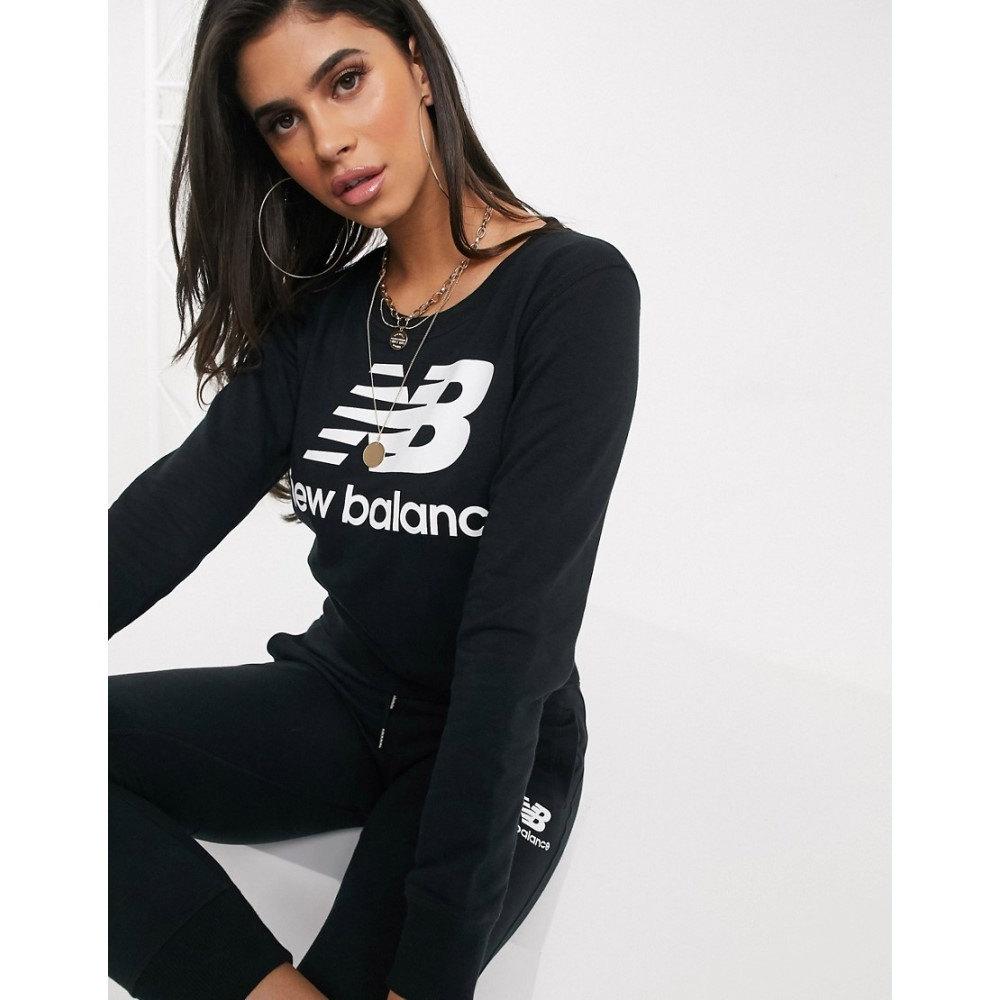 ニューバランス New Balance レディース スウェット・トレーナー トップス【Sweatshirt in black】Black