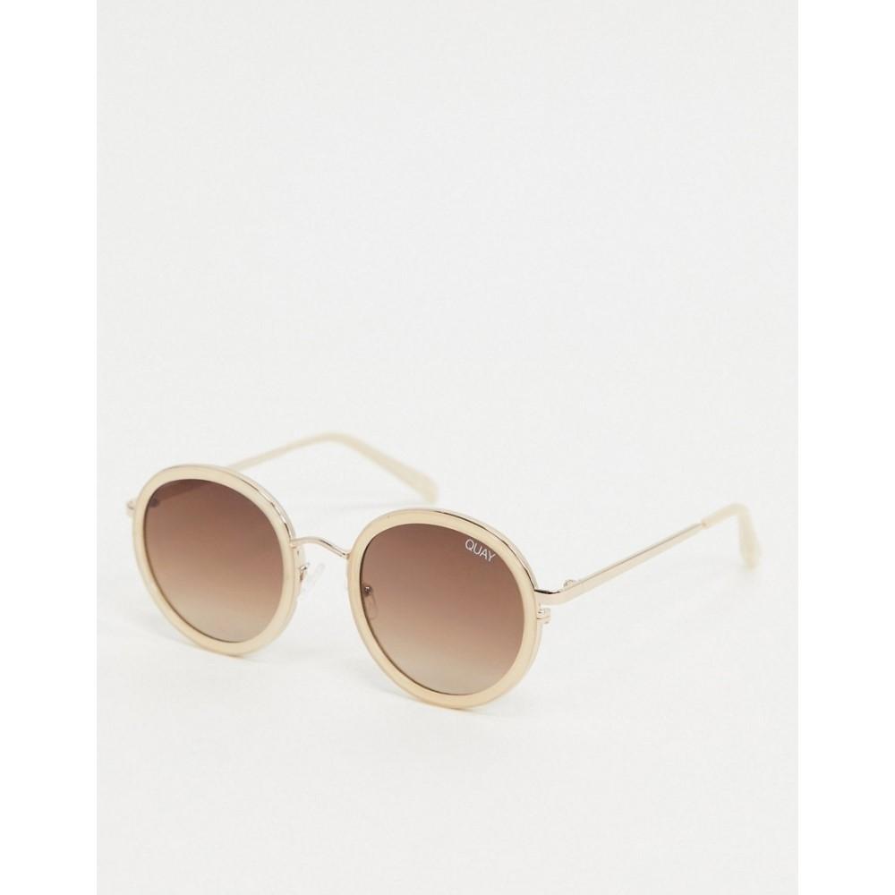 キー オーストラリア Quay Australia レディース メガネ・サングラス ラウンド【firefly round sunglasses in off white】White