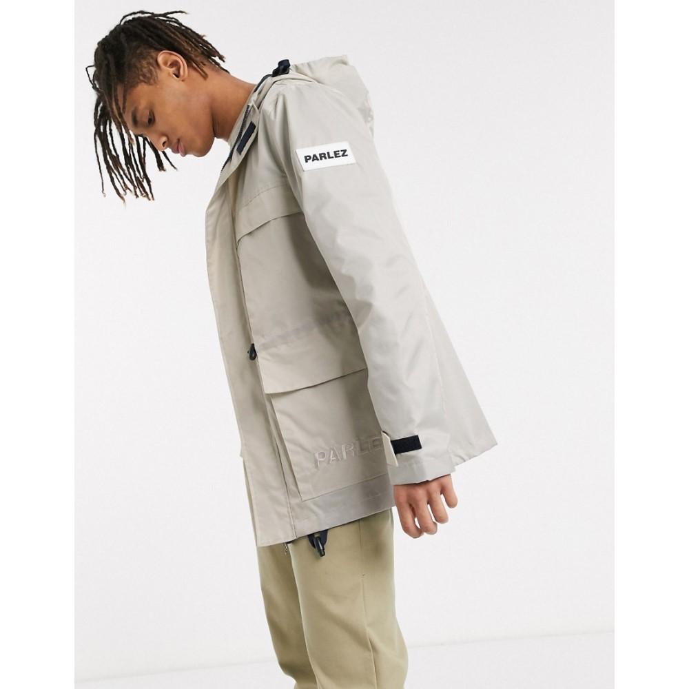 パルレ Parlez メンズ ジャケット フード アウター【Herreshoff hooded jacket in grey】Grey