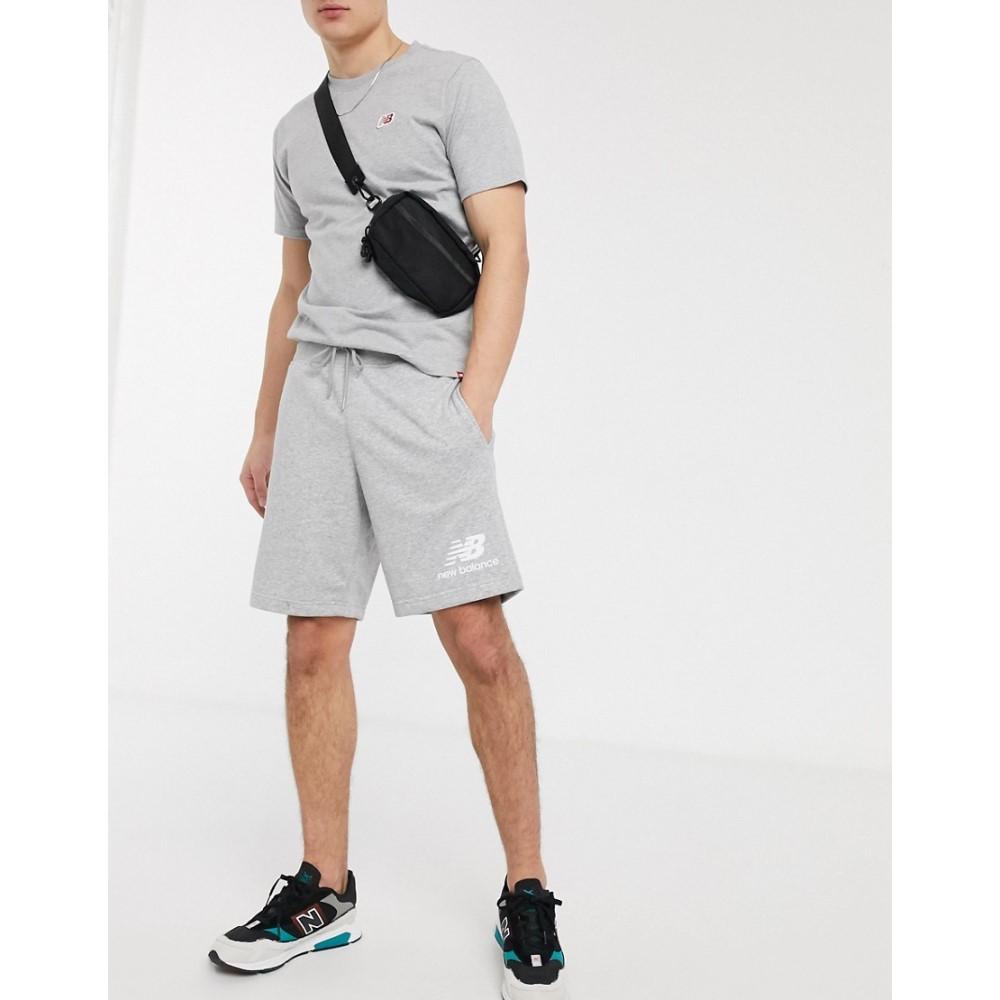 ニューバランス New Balance メンズ ショートパンツ ボトムス・パンツ【small logo shorts in grey】Gery