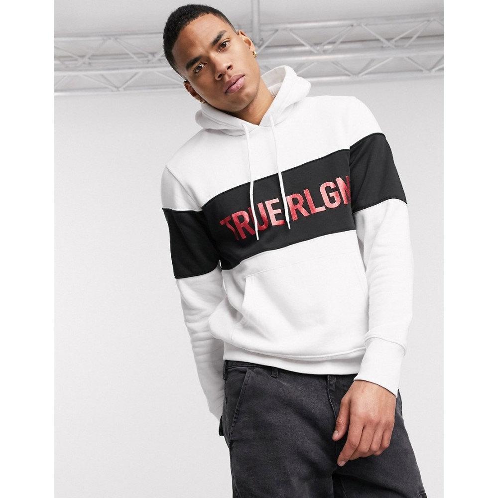 トゥルー レリジョン True Religion メンズ パーカー トップス【logo colour block hoody】White