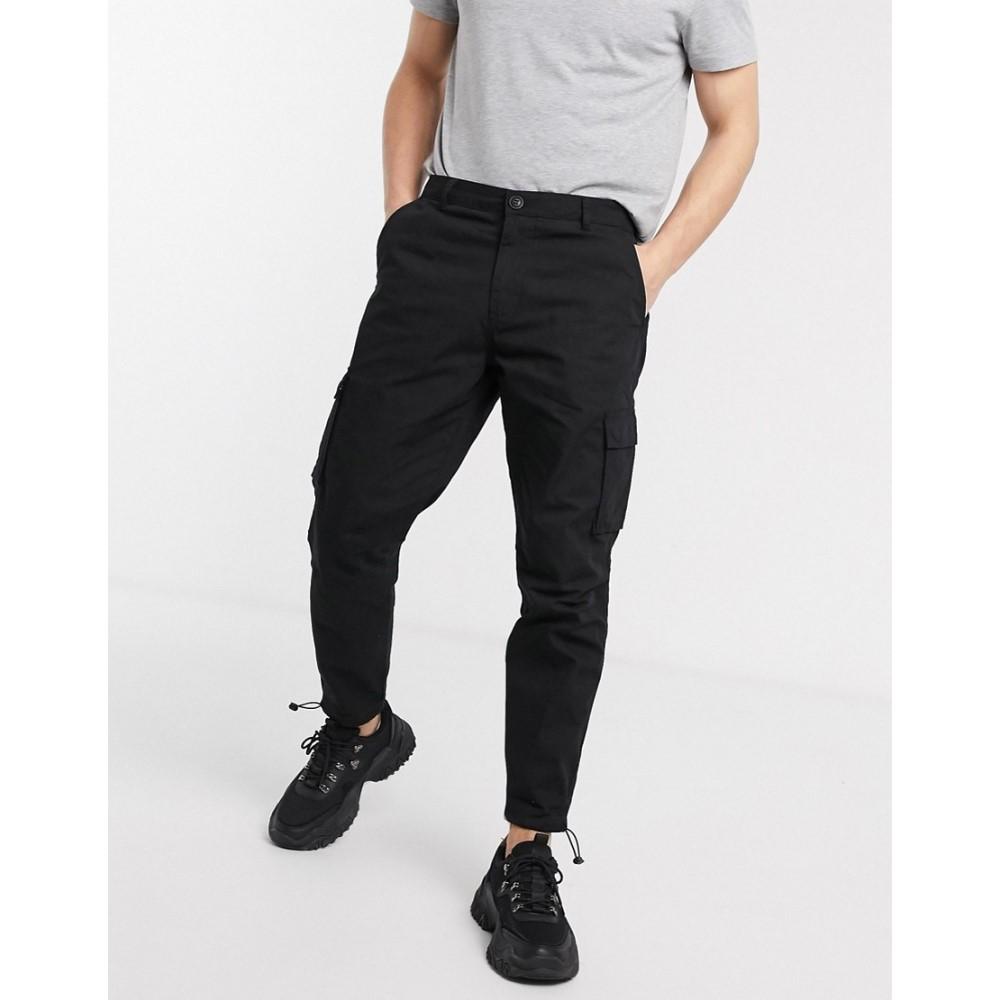 メンナス Mennace メンズ カーゴパンツ ボトムス・パンツ【cargo utility trouser in black】Black