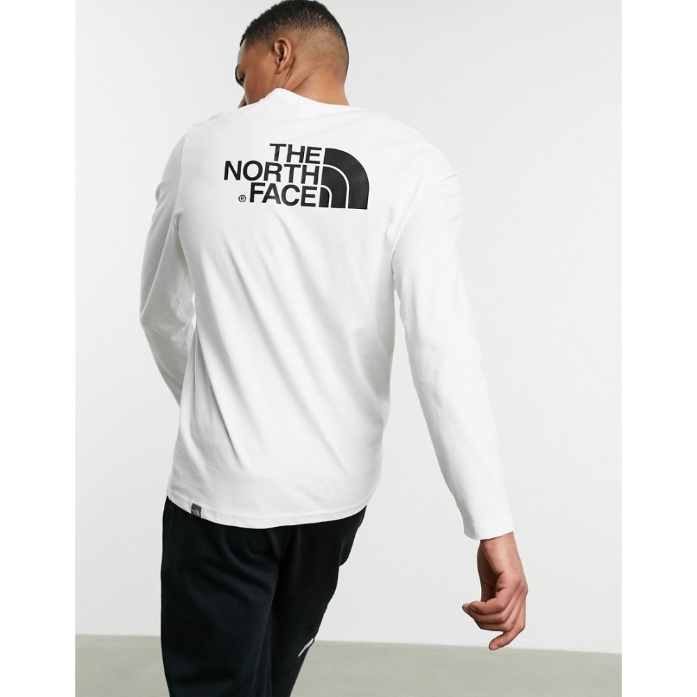 ザ ノースフェイス The North Face メンズ 長袖Tシャツ トップス【Easy long sleeve t-shirt in white】Tnf white