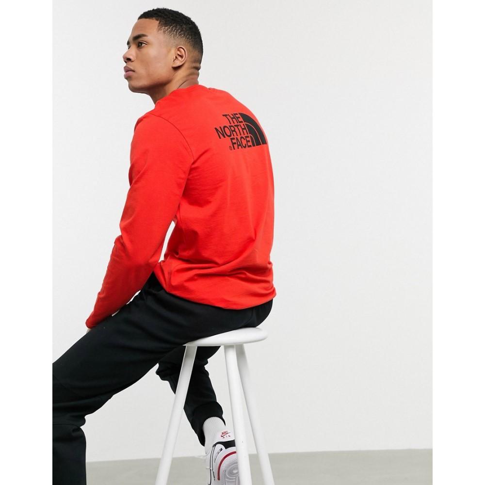 ザ ノースフェイス The North Face メンズ 長袖Tシャツ トップス【Easy long sleeve t-shirt in red】Fiery red