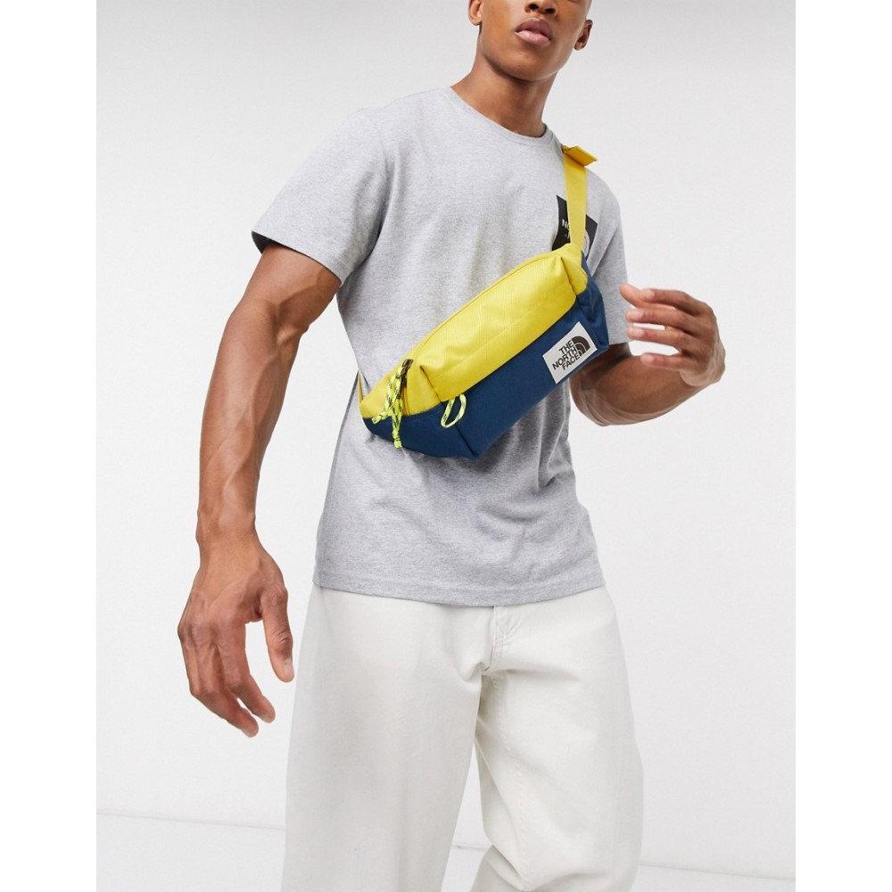 ザ ノースフェイス The North Face メンズ ボディバッグ・ウエストポーチ ウエストバッグ バッグ【Lumbar pack bum bag in yellow/navy】Bamboo yllw/blue wng