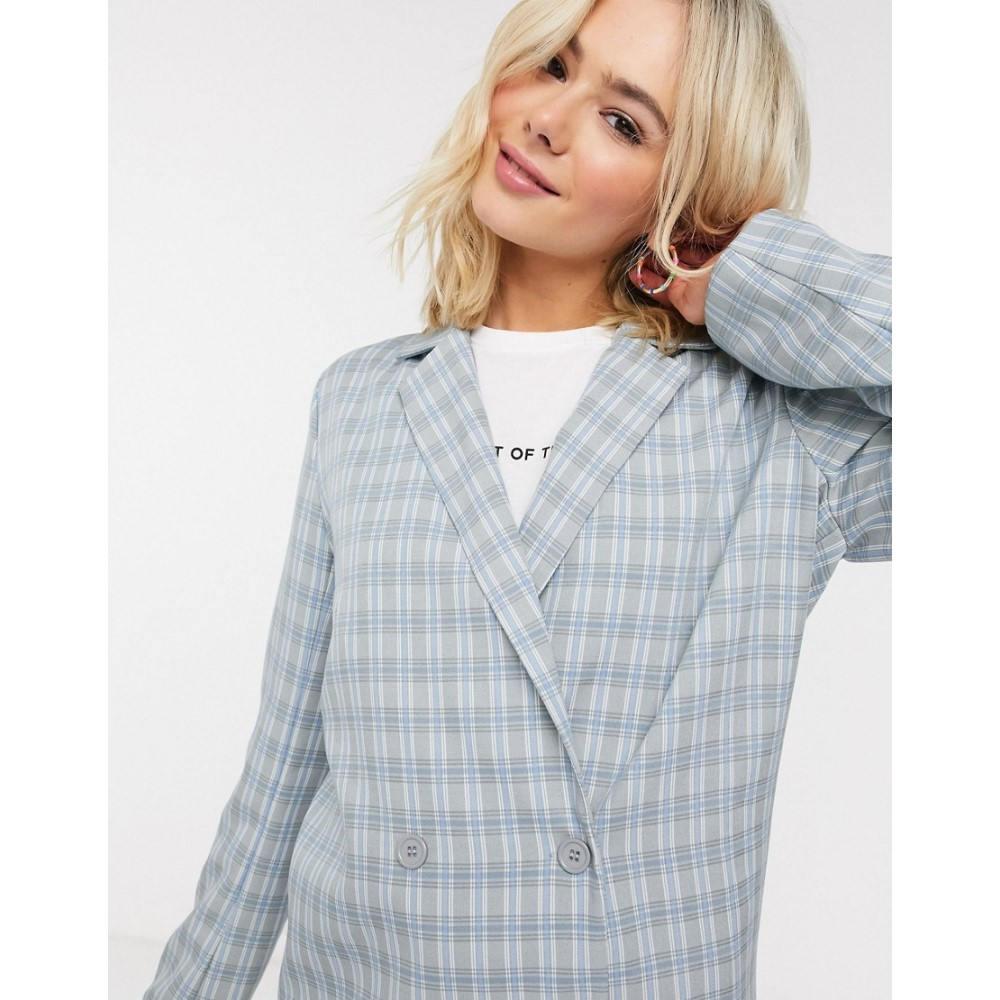 ハートブレーク Heartbreak レディース スーツ・ジャケット アウター【double breasted blazer suit in grey and blue check】Grey/blue