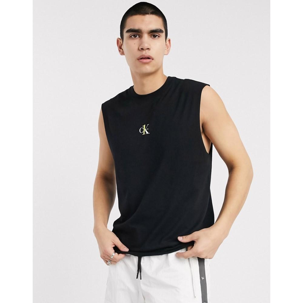 カルバンクライン Calvin Klein Jeans メンズ タンクトップ トップス【CK1 Capsule small logo vest in black】Black